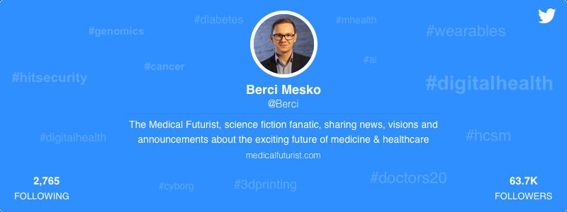 Berci Mesko healthcare twitter