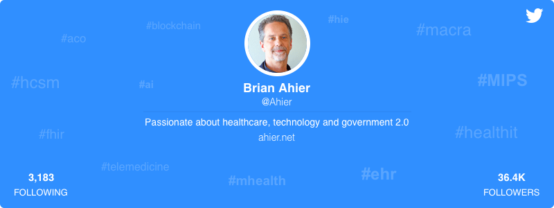 Brian Ahier healthcare twitter