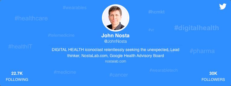 John Nosta healthcare twitter