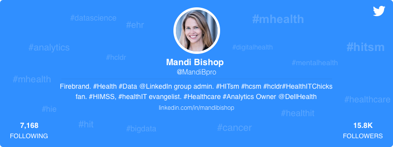 Mandi Bishop healthcare twitter
