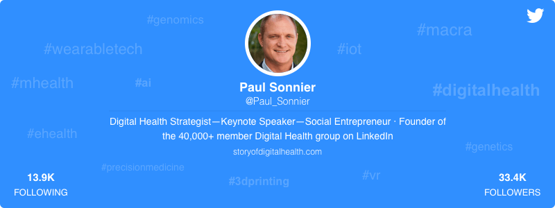 Paul Sonnier healthcare twitter