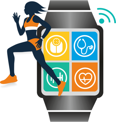 Wearable mobile sensors for monitoring wellness and health